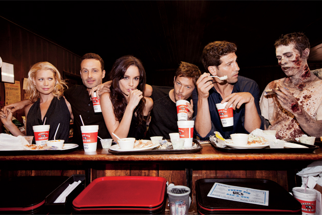 """Fresh Air Bar-B-Que and the entire cast of AMC's """"The Walking Dead ..."""